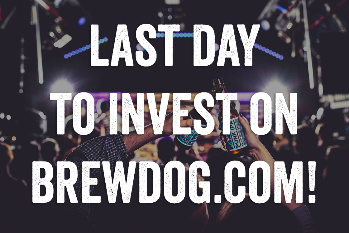 EQUITY FOR PUNKS USA – LAST DAY TO INVEST ON OUR SITE!
